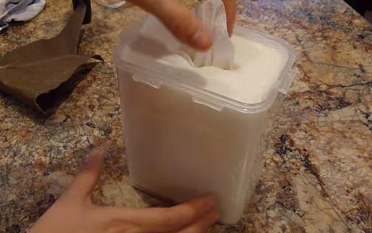 DIY desinfecterende doekjes