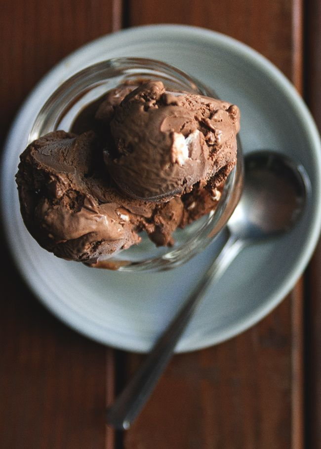 This ice cream is made using David Lebovitz' chocolate ice cream ...