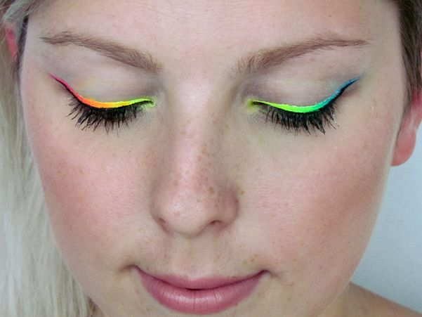 Jak na duhovou Linku / How to Rainbow Liner Makeup Tutorial http://getthelouk.com/?p=2975
