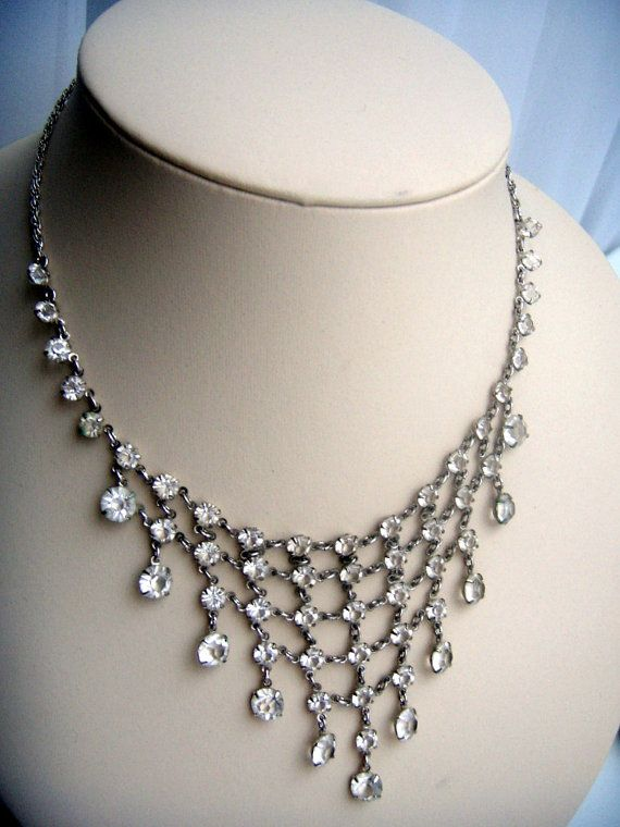 Magnificent necklace with rock crystal Edwardian от ODMIVINTAGE