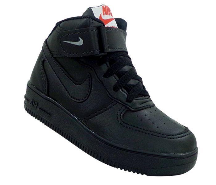 Tênis Infantil Nike Air Force 1 Mid '07 Preto
