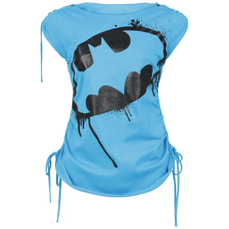 "Original ""Batman""-""Hero"" longshirt    Striking shirt for girls with big Batman print.    - shoulders and both sides of the shirt can be gathered individually  - refined back part"