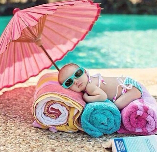 Baby at the beach picture