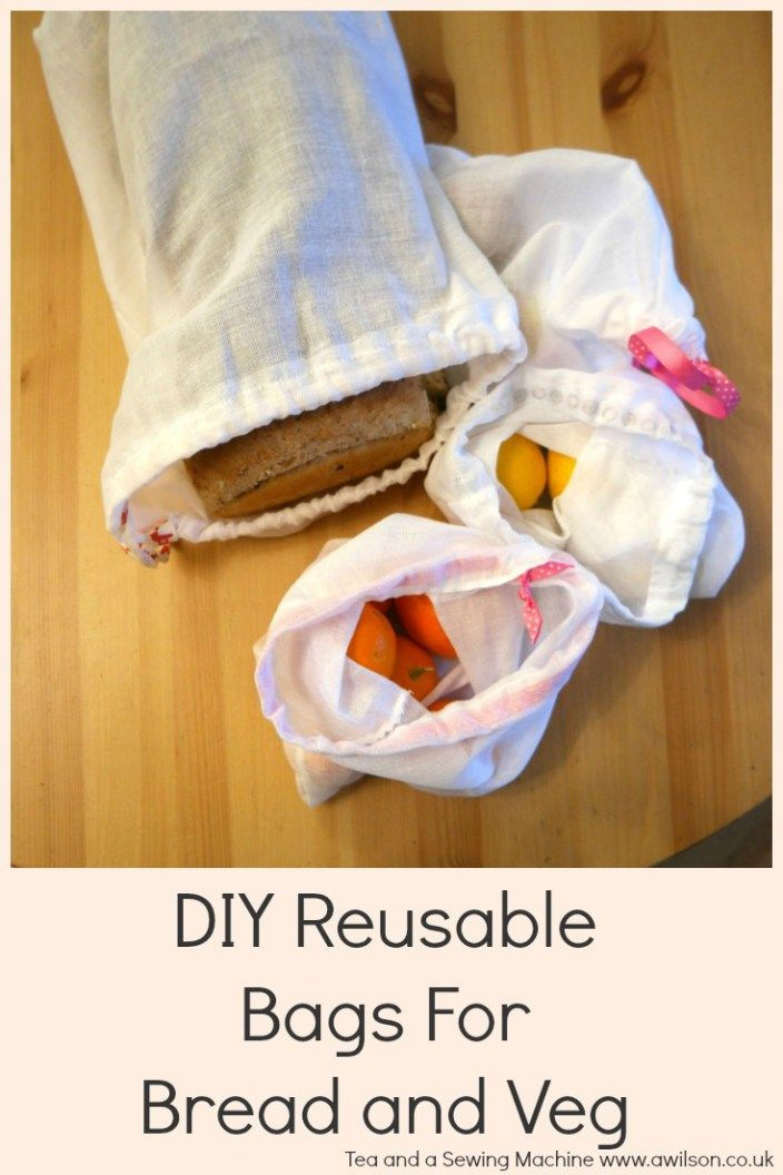 Reusable, cotton produce bags - tutorial ~ Tea and a Sewing Machine