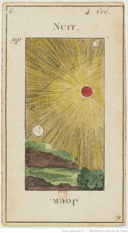 "[Jeu de tarot divinatoire dit ""Grand Etteilla"" ou ""tarot égyptien""] : [jeu de cartes, estampe] (1880-1890)"