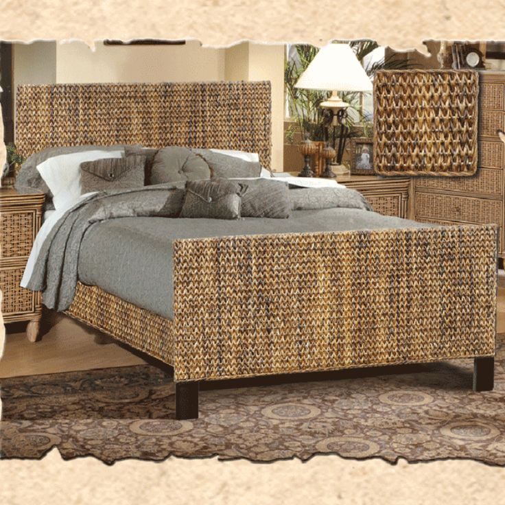 Maui Complete Bed King Is A Beautiful Woven Seagrass Bed