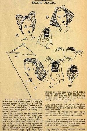 Fantastic 1940s scarf tricks. #vintage #1940s #scarves #hair by maura