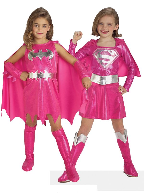 Pink Batgirl Supergirl Girl Superhero Fancy Dress Kids Toddler Costume Halloween | eBay