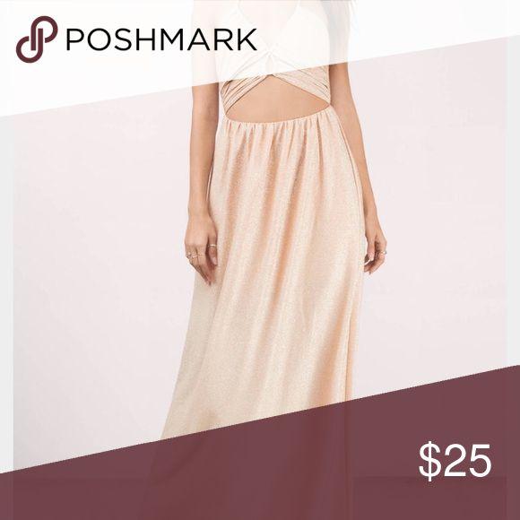 Earnest gold maxi dress Brand new Tobi Dresses Maxi