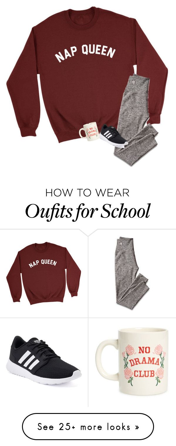 """NO SCHOOL TMMR!!!! RTD"" by ctrygrl1999 on Polyvore featuring Mark & Graham, adidas, ban.do and snowday"