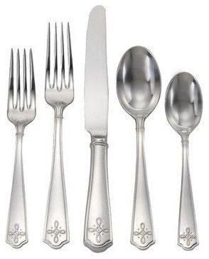 Juliska Villandry 5pc Flatware Setting Bright Satin transitional-flatware-and-silverware-sets  --  $95