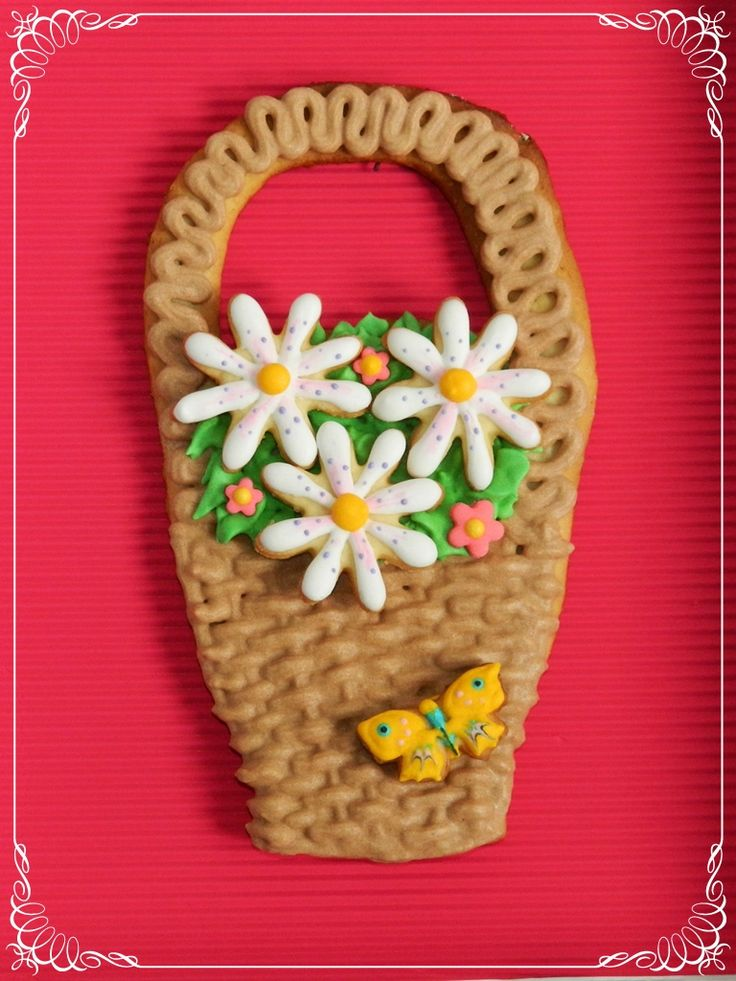 Flower basket cookies Prajiturele de nu ma uita cookies