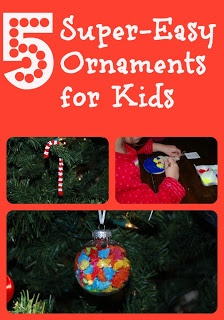 5 Very Easy Ornaments for even the most craft-challenged and busy Moms!