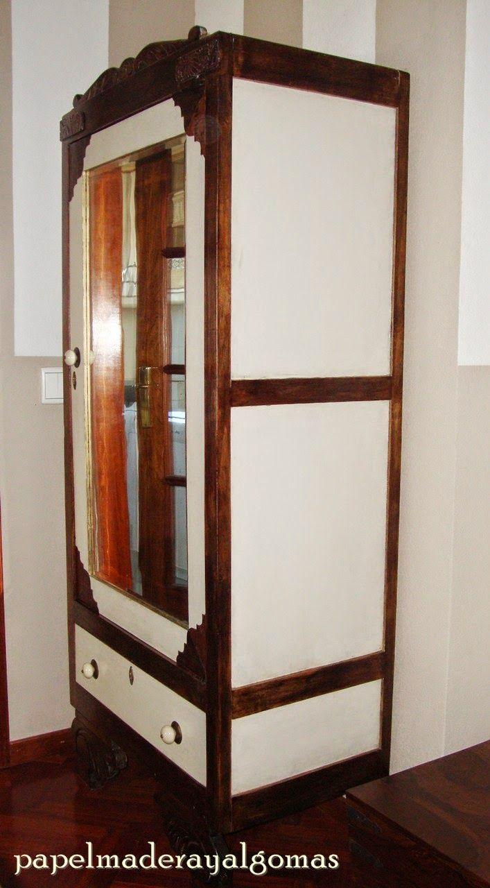 Papel madera y algo m s armario restaurado muebles for Mueble y algo mas