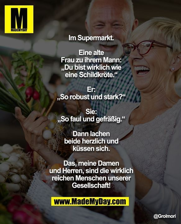 Im Supermarkt Eine Alte Frau Zu Ihrem Ehemann Du Bist Wirklich