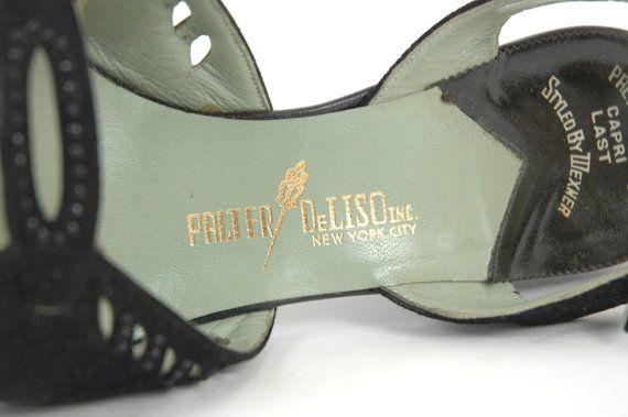 1940s Shoes Vintage Palter DeLiso Slingback Pumps