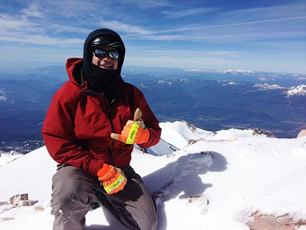 """Barry Winston of Oregon """"I love this glove!! Taken from the top of Mt Shasta yesterday!"""""""