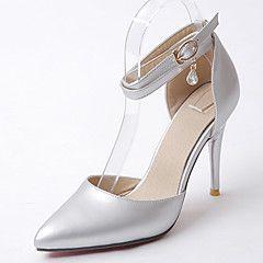Da donna-Sandali-Matrimonio Ufficio e lavoro Serata e festa-Altro Club Shoes D'Orsay-A stiletto-Finta pelle-Nero Argento Dorato