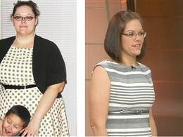 She lost 158 lbs in 15 months.  Joy Fit Club.