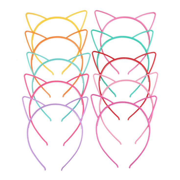 Mixed Color Plastic Cat Ear Tiara Bow Hair Tiara Princess Headband Hair band With Teeth Free Shipping-in Hair Accessories from Mother & Kids on Aliexpress.com   Alibaba Group