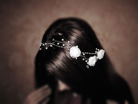 Floral And Pearl Bridal Headpiece Wedding Hair by RoyalBrides