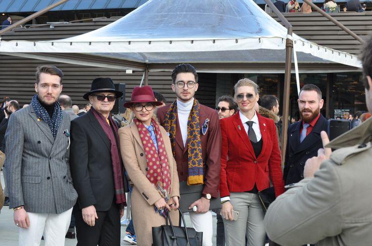 Part of our team, at Pitti Uomo!  #PittiUomo #mensstyle #mensfashion #streetstyle #PittiUomo2016 #Cozacone