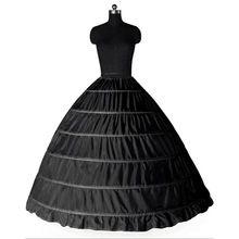 Baljurk Grote Petticoats 2017 Nieuwe Zwart Wit 6 hoops Bruid Onderrok Formele Jurk Crinoline Plus Size Bruiloft Accessoires(China (Mainland))