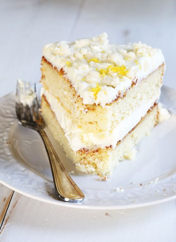 This Gluten Free Lemon Cream Cake is just like the moist, tender cake from The Olive Garden, but safely gluten free!