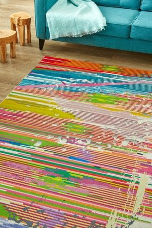 Painted Canvas: Dramatic and irreverent, this rug is perfect if you're looking to inject some fu...