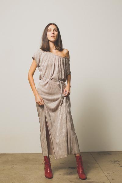 Lindsay Column Dress - Tawny – Preservation