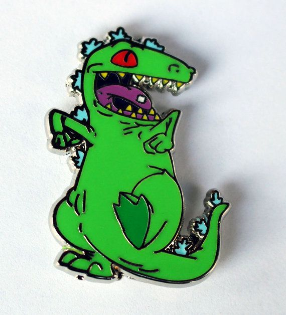 Reptar Hat Pin  90s Rugrats Lapel Pin by RealSic on Etsy