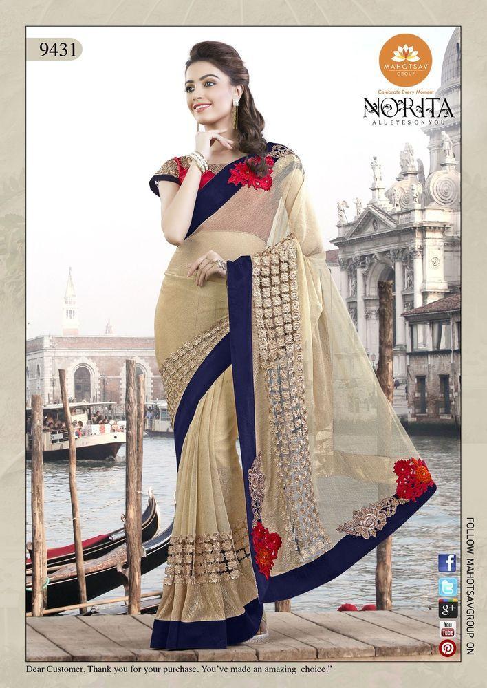 Sari Partywear Indian Pakistani Wedding Ethnic Dress Designer Saree Bollywood #Tanishifashion #DesignerSaree