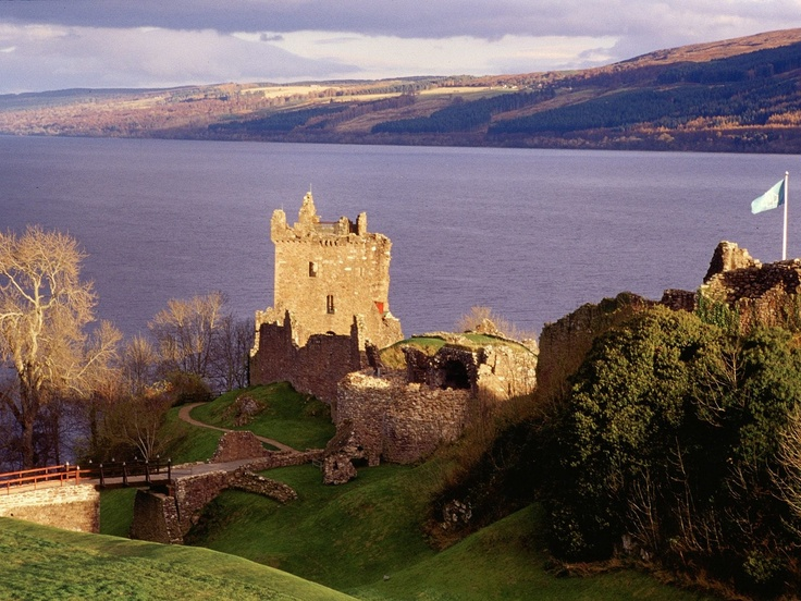 Urquhart Castle in Loch Ness, Scotland. If I am going golfing in Scotland, I might as well stop by and look for Nessie?