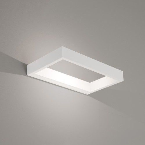 Minimal Modern White Frame LED Wall Sconce by James Bassant for Astro Lighting