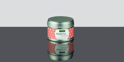 Matcha Shake Strawberry, Té verde molido con aroma de fresa lleno de antioxidantes.