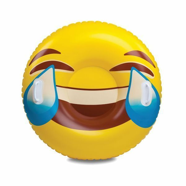 Smile Face Emoji Snow Tube Sleigh Riding Tube Lol Tube Big Mouth Inc Snow Tubing Tears Of Joy Emoji