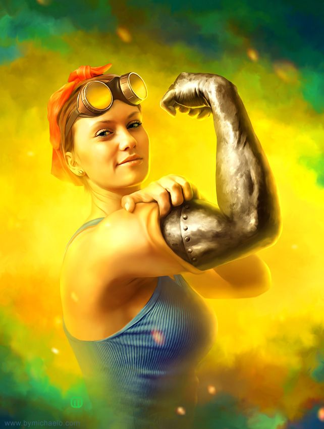 Michaelos Aka Michael Oswald Take On Rosie The Riveter What He Does Is Digital