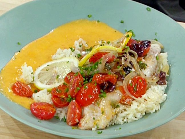 Oven Roasted Red Snapper Fillets with Tomatoes and Onions Recipe : Emeril Lagasse : Food Network - FoodNetwork.com