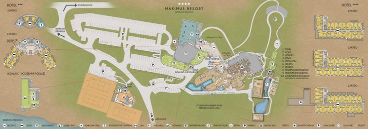 Hotelový plánek Maximus Resort