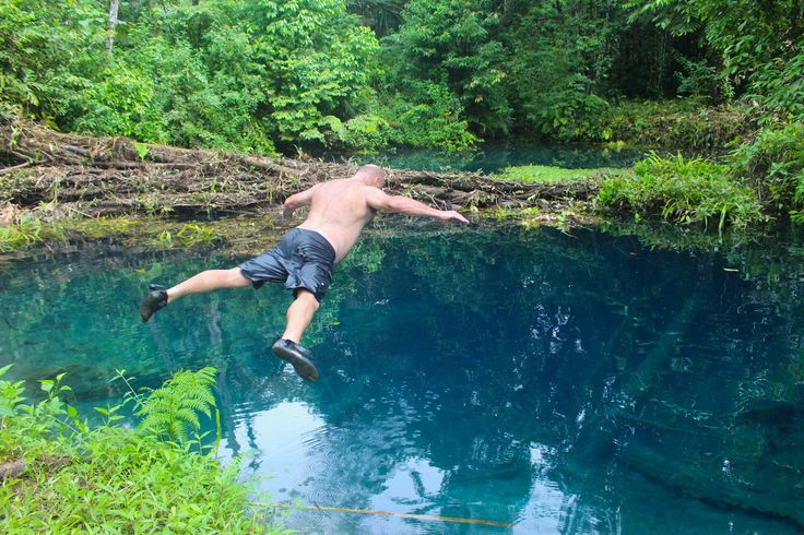 Blue Pools Bellyflop...
