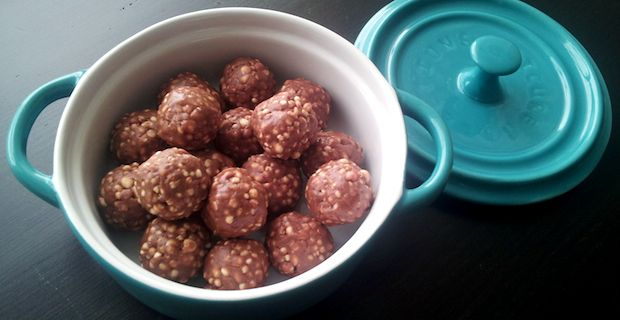 Almond Butter Balls. Nutritious nut butters have a great ratio of proteins to fats to fiber, so small amounts can really fill you up. The medium chain fatty acids in coconut oil are a quick source of energy for your brain and body making these indulgent little almond butter balls truly good for you.