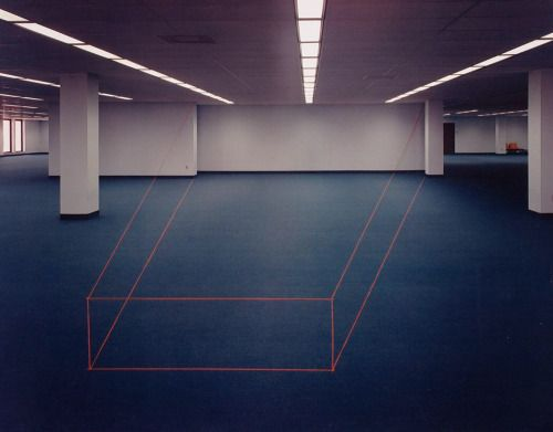 John Pfahl Library Projection, Tampa, Florida, 1977
