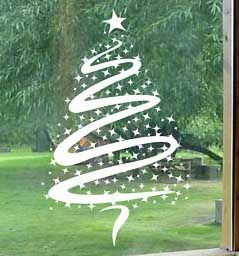 vinilo ventana arbol de navidad