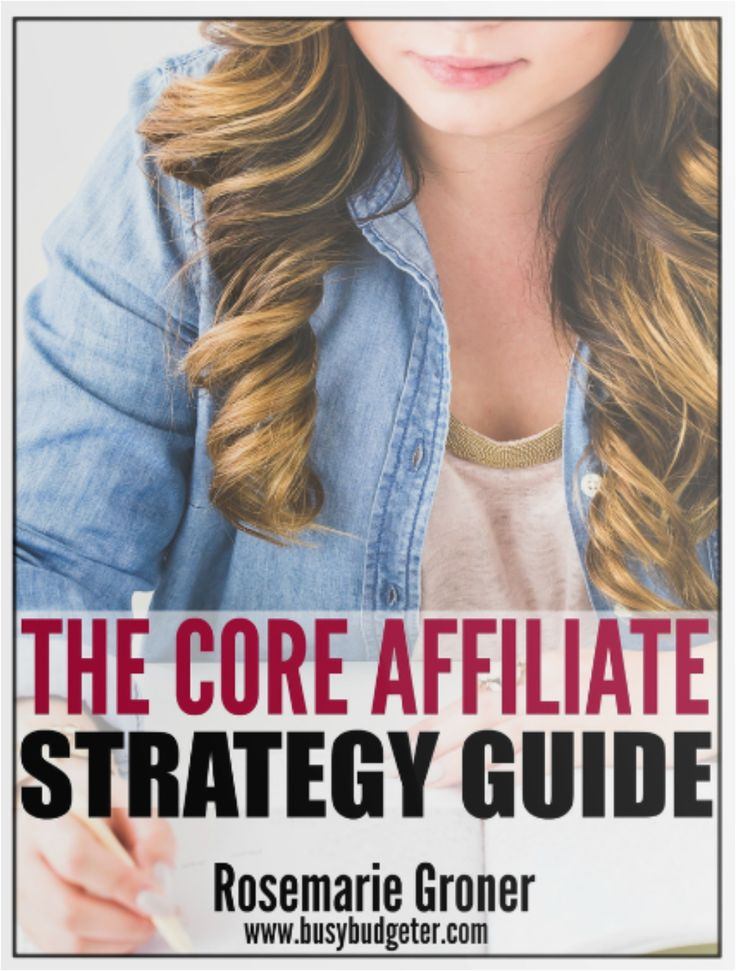 The Core Affiliate Strategy Guide.  Learn how to make unlimited income with affiliate marketing.    *affiliate