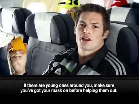 •	Air New Zealand makes safety video with All Blacks (New Zealand's Rugby Team) - Youtube