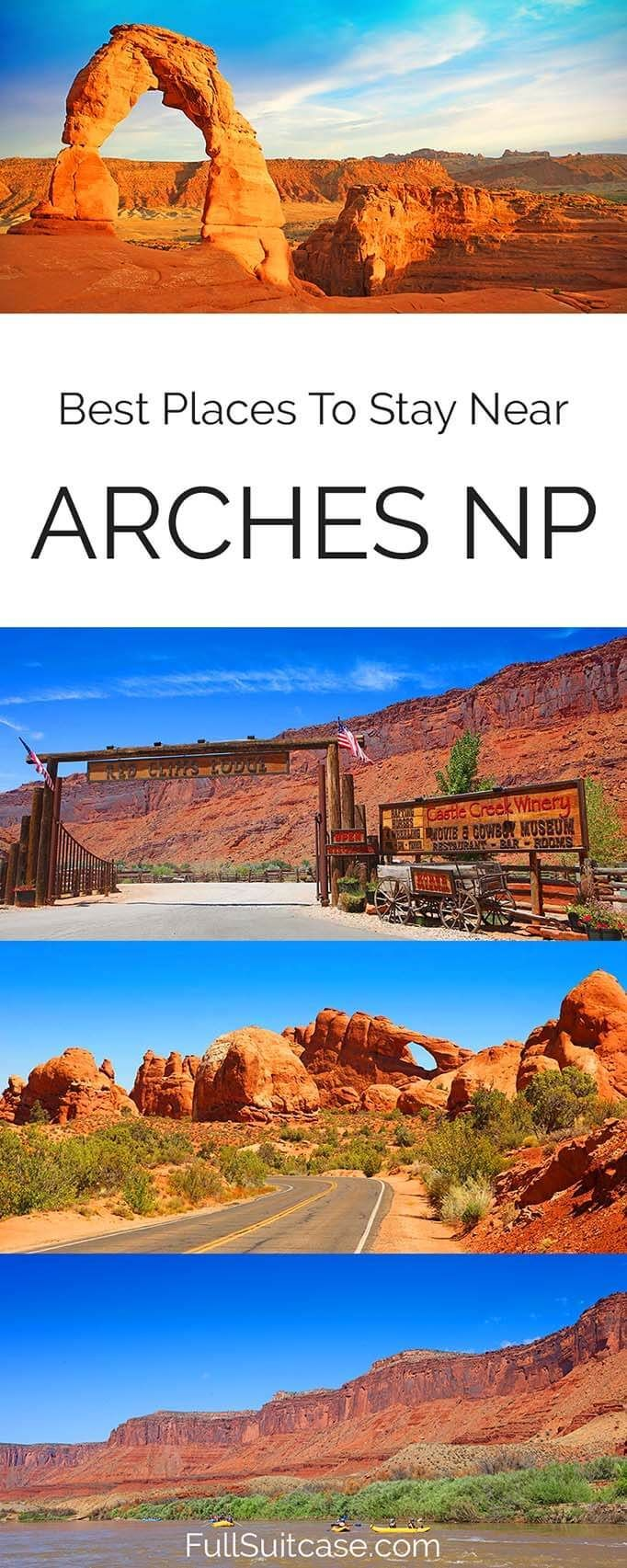Best Moab hotels and accommodation near Arches National Park in Utah USA #archesnationalpark #utah