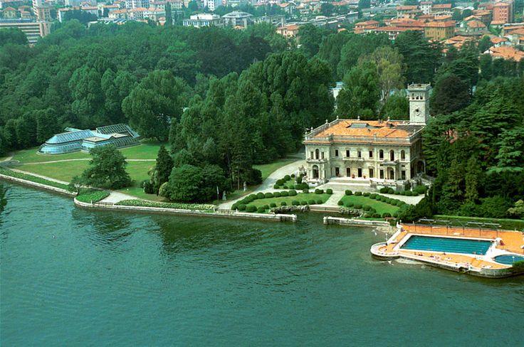 19th century Villa (called Villa Erba) on the banks of Lake Como in Milan, Italy (seen in Ocean's Twelve)
