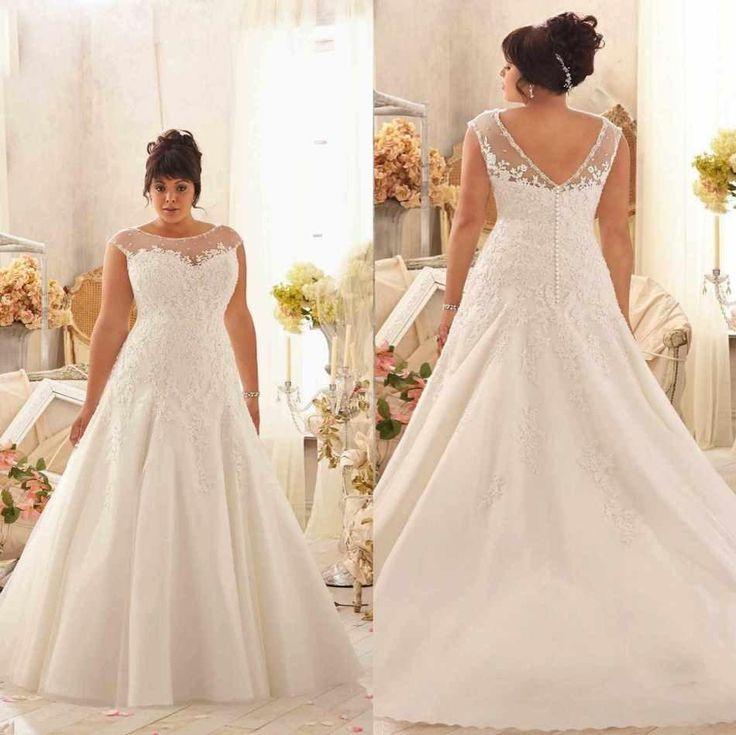 66 best plus size dresses images on Pinterest   Short wedding gowns ...