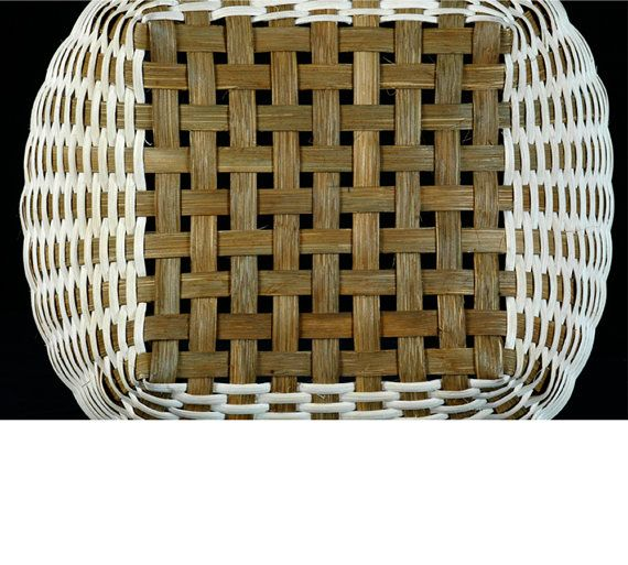 Basket Weaving Dyed Reed : Cherokee wheels hand woven basket in natural colors