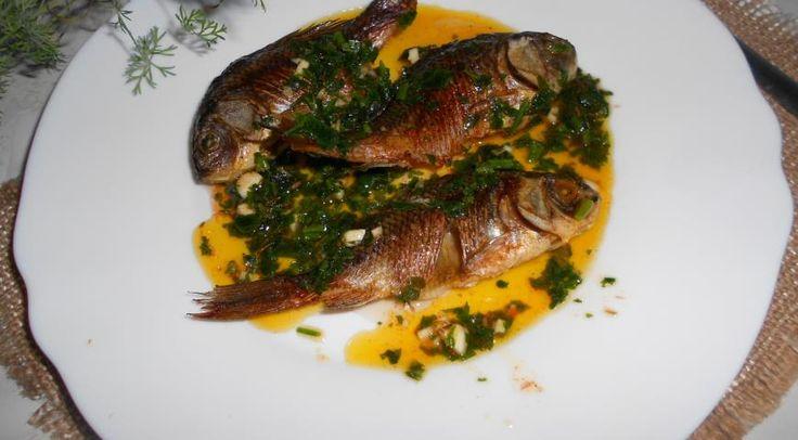 Речная рыба-гриль с соусом, ссылка на рецепт - https://recase.org/rechnaya-ryba-gril-s-sousom/  #Рыба #блюдо #кухня #пища #рецепты #кулинария #еда #блюда #food #cook